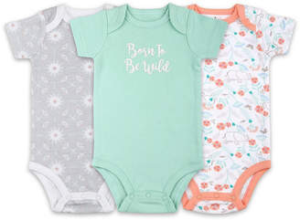 The Peanut Shell The Baby Girl Elephant 3 Pack Bodysuit