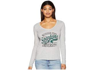 Champion College Michigan State Spartans Long Sleeve V-Neck Tee