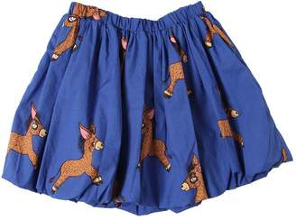 Mini Rodini Donkey Print Organic Cotton Poplin Skirt