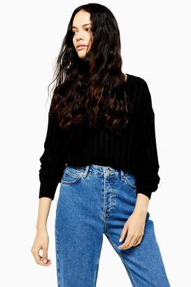 Topshop Knitted Ribbed V Neck Jumper