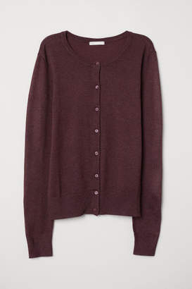 H&M Fine-knit Cardigan - Red