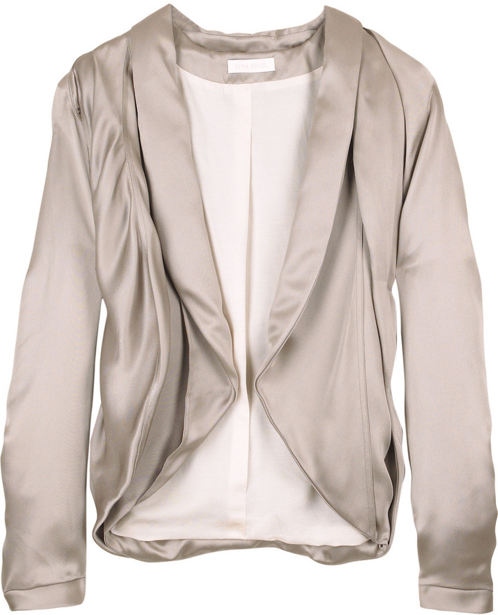 Nina Ricci Cropped satin jacket
