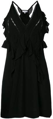 IRO ruffle V-neck dress