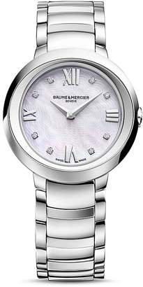 Baume & Mercier Promesse Watch with Mother-Of-Pearl and Diamonds, 30mm