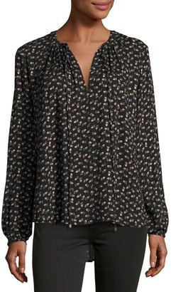 WAYF Townsend Floral-Print Blouse, Black Pattern $45 thestylecure.com