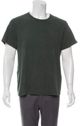 Rag & Bone Woven Crew Neck T-Shirt