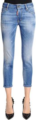 DSQUARED2 Twiggy Cropped Fit Light Denim Jeans