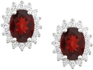 Premier 2.50cttw Oval Garnet & Diamond Earrings, 14K