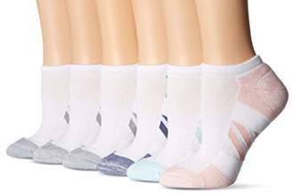Amazon Essentials Women's 6-Pack Performance Cotton Cushioned Athletic No-Show Socks