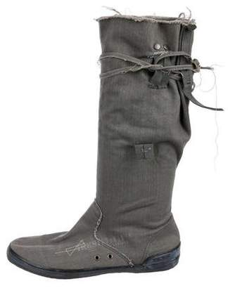 Ikks Canvas Lace-Up Boots