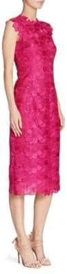 Monique Lhuillier Orchid Sheath Dress
