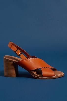Faryl Robin Scalloped Slingback Heels