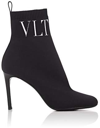 Valentino Women's Stretch-Knit Ankle Boots