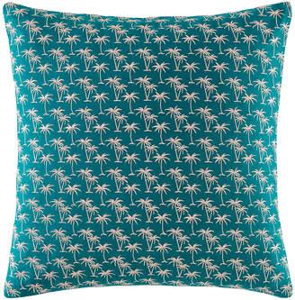 Kas Teal Mini Palm Cotton Cushion