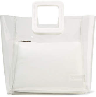 STAUD - Shirley Pvc And Leather Tote - White