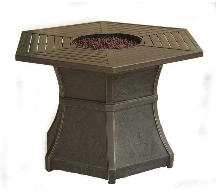 Cambridge Silversmiths Cambridge Hexagonal High-Top Gas Fire Pit Table