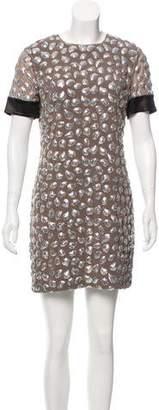 Diane von Furstenberg New Cindy Puffy Sequins Dress