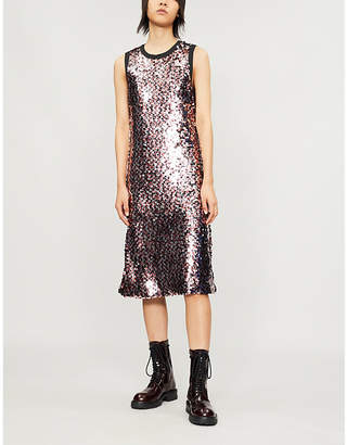 McQ Sequin-embellished crepe dress