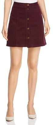 Three Dots Corduroy A-Line Mini Skirt
