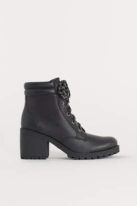 H&M Chunky-sole Boots - Black