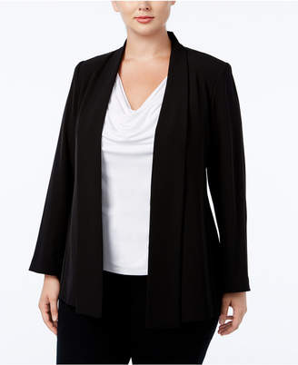 Calvin Klein Plus Size Open-Front Soft Jacket