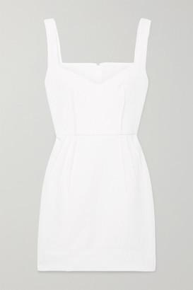 Emilia Wickstead Judita Cloqué Mini Dress - White