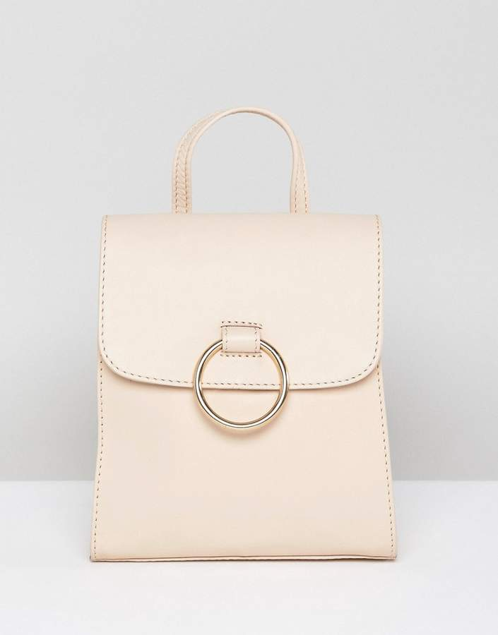Asos Design ASOS DESIGN leather mini backpack with ring