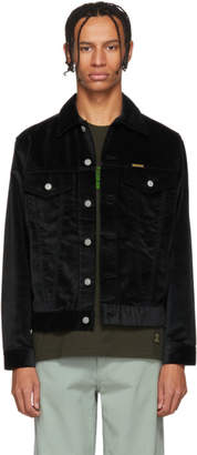 Wacko Maria Black Velour Trucker Jacket