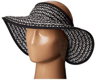 San Diego Hat Company UBV007 Adjustable Roll Up Visor with Ribbon Edge Casual Visor