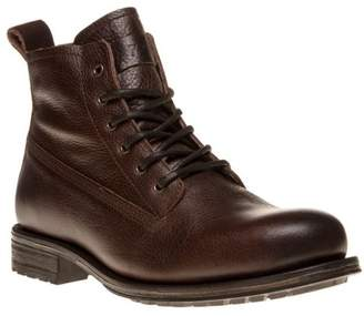 Sole New Mens Brown Frith Leather Boots Lace Up