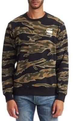 G Star Camouflage Logo Sweatshirt