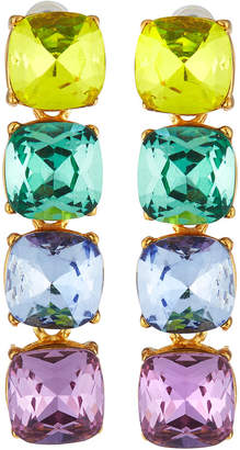 Kenneth Jay Lane Pastel Crystal Drop Earrings