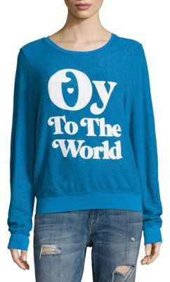 Wildfox Oy to the World Sweatshirt $108 thestylecure.com