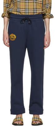 Burberry Navy Crest Lounge Pants