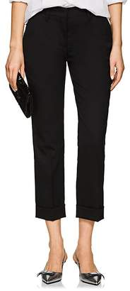 Prada Women's Wool Straight Cuffed Trousers