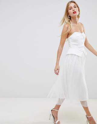 Asos Design DESIGN tux tulle midi dress