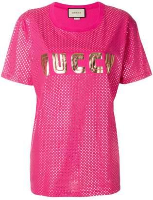 Gucci Guccy print T-shirt