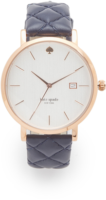 Kate Spade New York Quilted Navy Metro Watch $195 thestylecure.com