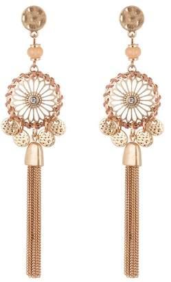 Melrose and Market Filigree & Tassel Linear Dangle Earrings