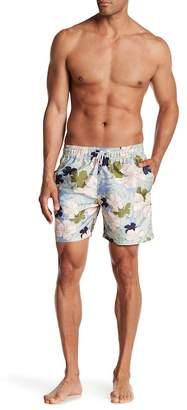 Slate & Stone Floral Swim Trunks