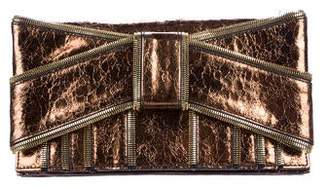 Zac Posen Z Spoke by Metallic Shirley Clutch