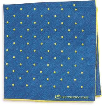 Southern Tide Bethany Dot Cotton & Silk Pocket Square