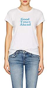 "Rag & Bone Women's ""Good Times Ahead"" Cotton T-Shirt - White"
