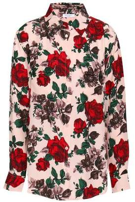 Equipment Floral-Print Silk Shirt