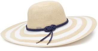 Betmar Women's Demetria Striped Wide Brim Sun Hat