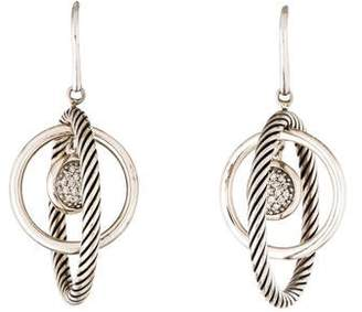 David Yurman Diamond Large Round Mobile Earrings