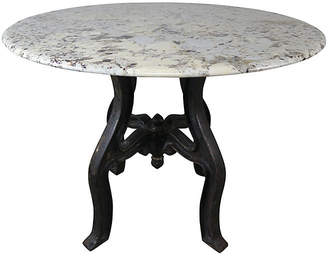 One Kings Lane Vintage Cast Iron Painted Table with Granite Top
