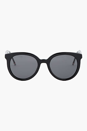 Thom Browne black Round polished Sunglasses