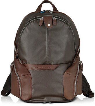 Piquadro Nylon & Leather Computer Backpack