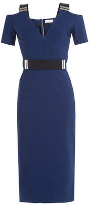Thierry Mugler Midi Dress with Cut-Out Shoulders